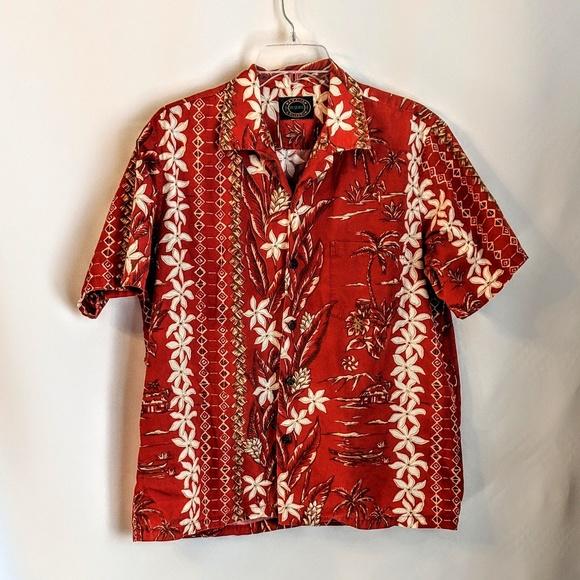 Hawaiian Reserve Collection Other - Hawaiian Men's Tiki Shirt Cotton w/Coconut buttons